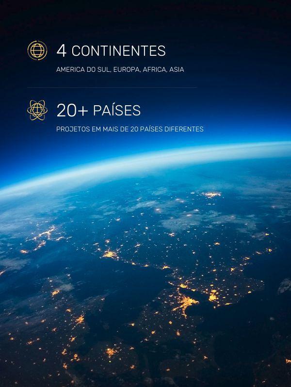 Mais de 10.000 projetos em mais de 20 países